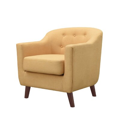 Anthony Armchair Upholstery: Yellow
