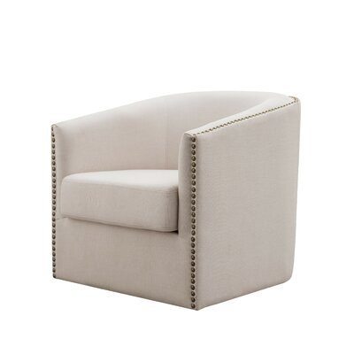 Autenberry Swivel Armchair Upholstery: Cream