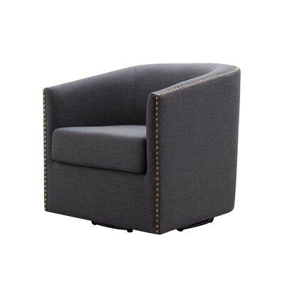 Autenberry Swivel Armchair Upholstery: Dark Gray