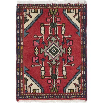 One-of-a-Kind Roth Hand-Knotted Wool Red/Beige Area Rug
