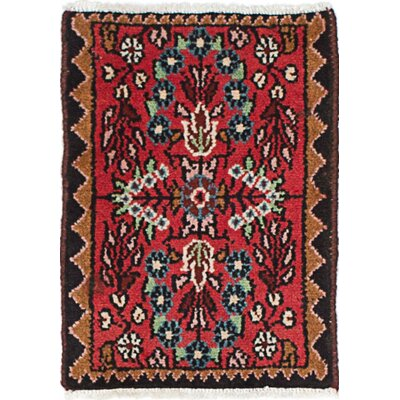 One-of-a-Kind Roth Hand-Knotted Wool Red/Brown Area Rug