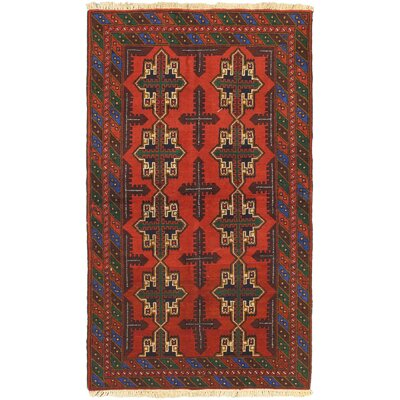 One-of-a-Kind Ingham Hand-Knotted Wool Red/Green Area Rug
