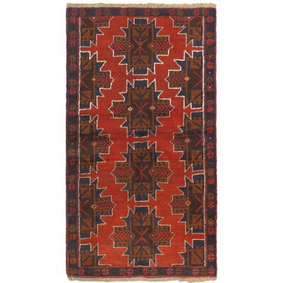 One-of-a-Kind Mcelligott Hand-Knotted Wool Red/Bronze Area Rug