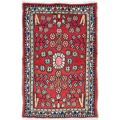 One-of-a-Kind Roth Hand-Knotted Wool Light Red/Beige Area Rug