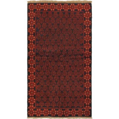 One-of-a-Kind Mcdougal Hand-Knotted Wool Red/Black Area Rug
