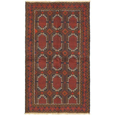 One-of-a-Kind Mcelligott Hand-Knotted Wool Red/Brown Area Rug