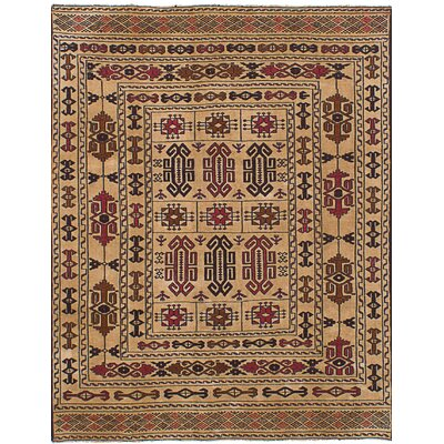 One-of-a-Kind Mcdonell Hand-Woven Wool Beige/Brown Area Rug