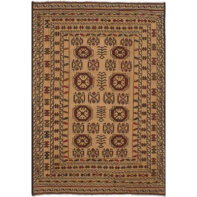 One-of-a-Kind Mcdonell Hand-Woven Wool Red/Brown Area Rug