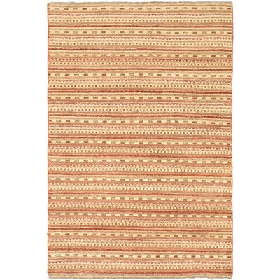 One-of-a-Kind Rolling Hills Estates Hand-Knotted Wool Beige Area Rug
