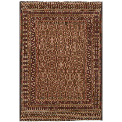 One-of-a-Kind Mcdonell Hand-Woven Wool Tan/Brown Area Rug