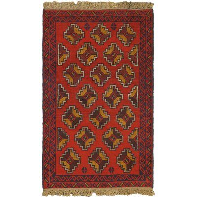 One-of-a-Kind Mcdougle Hand-Knotted Wool Red/Brown Area Rug