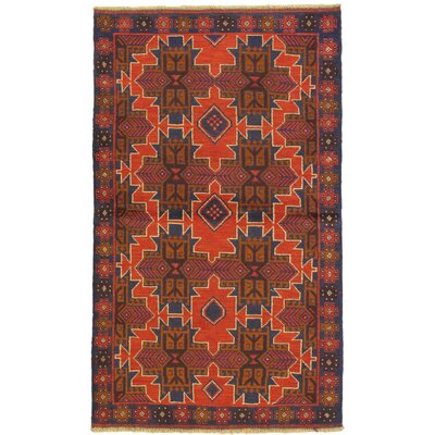 One-of-a-Kind Mcelligott Hand-Knotted Wool Orange/Brown Area Rug