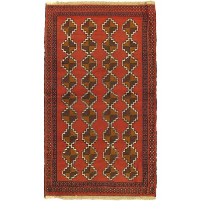 One-of-a-Kind Mcdougle Hand-Knotted Wool Orange/Brown Area Rug