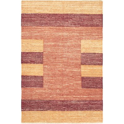 One-of-a-Kind Perkey Hand-Knotted Wool Copper Area Rug