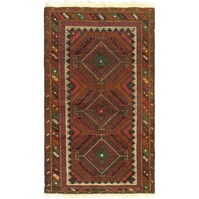 One-of-a-Kind Mcdorman Hand-Knotted Wool Brown Area Rug