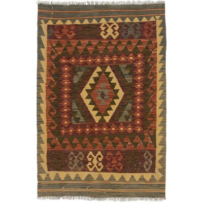 One-of-a-Kind Olmsted Hand-Woven Wool Brown/Dark Khaki Area Rug