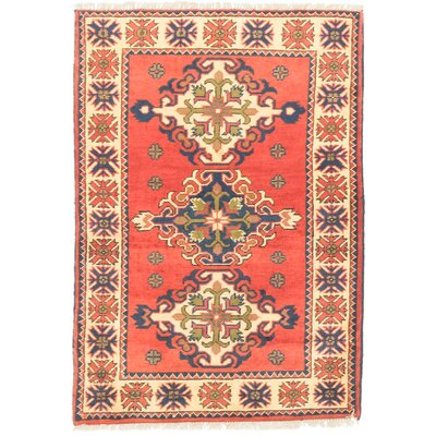 One-of-a-Kind Bunkerville Hand-Knotted Wool Red/Light Gold Area Rug