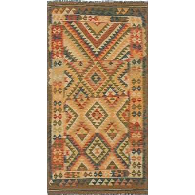 One-of-a-Kind Valencia Hand-Woven Wool Cream/Olive Area Rug