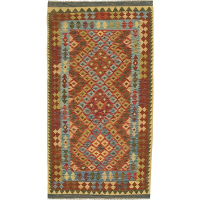 One-of-a-Kind Mcelrath Hand-Woven Wool Red/Bronze Area Rug