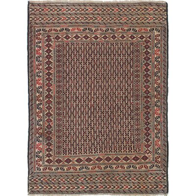 One-of-a-Kind Mcdonell Hand-Woven Wool Dark Copper/Brown Area Rug