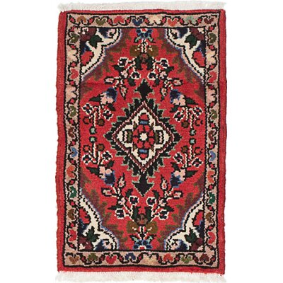 One-of-a-Kind Roth Hand-Knotted Wool Red/Cream Area Rug