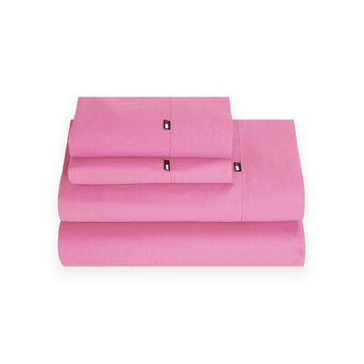 Signature 200 Thread Count 100% Cotton Sheet Set Size: Twin, Color: Pink
