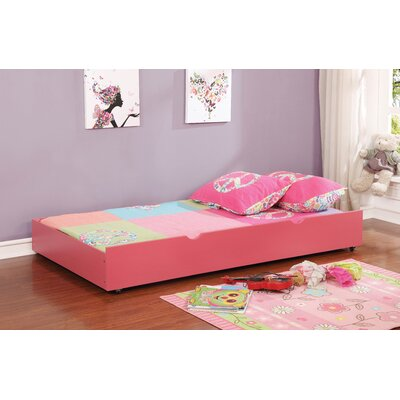 Prochniak Trundle Unit with Drawer Color: Pink