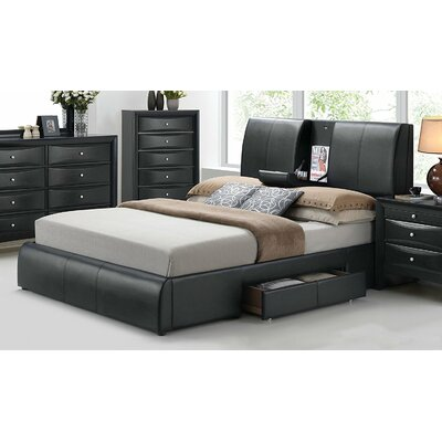 Alldredge Upholstered Storage Panel Bed Size: King