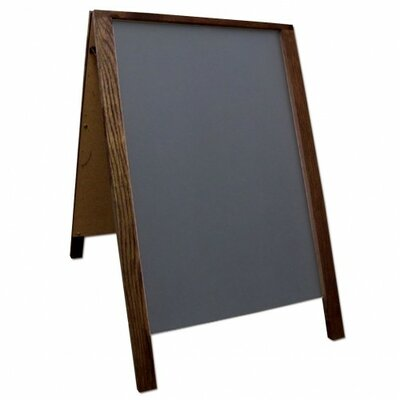 Sidewalk Sign Color: Black/Brown, Size: 28 H x 22 W x 3 D