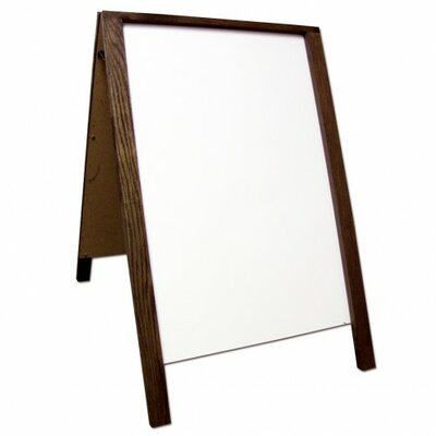 Sidewalk Sign Color: White/Brown, Size: 28 H x 22 W x 3 D