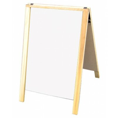 Sidewalk Sign Color: White/Yellow, Size: 28 H x 22 W x 3 D