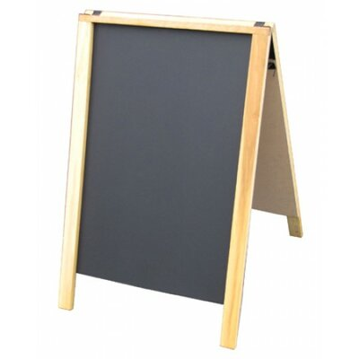 Sidewalk Sign Color: Black/Yellow, Size: 28 H x 22 W x 3 D