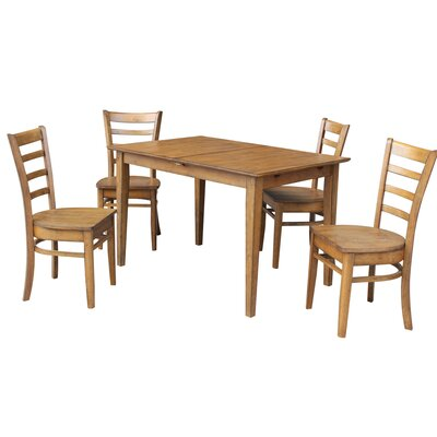 Wellston Butterfly Leaf Extendable 5 Piece Dining Set