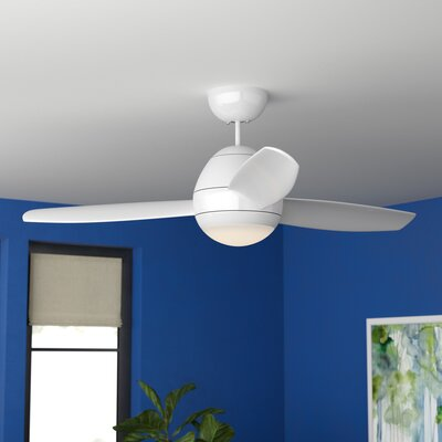 52 Lilli 3 Blade Ceiling Fan with Remote Finish: White