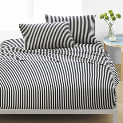 Ajo 200 Thread Count 100% Cotton Sheet Set Size: Full