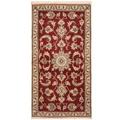 One-of-a-Kind Ertha Hand-Knotted Red/Ivory Area Rug