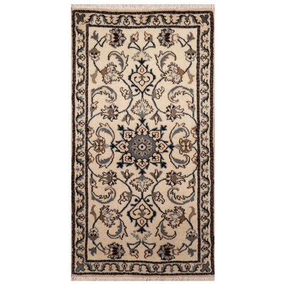 One-of-a-Kind Ertha Hand-Knotted Ivory Area Rug