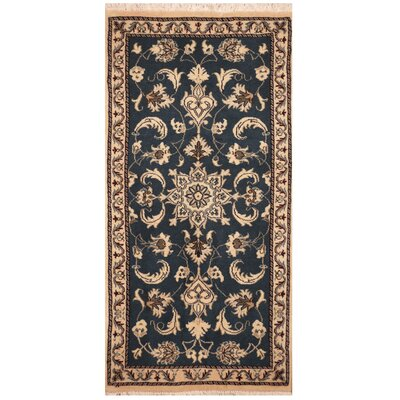 One-of-a-Kind Ertha Hand-Knotted Blue/Ivory Area Rug