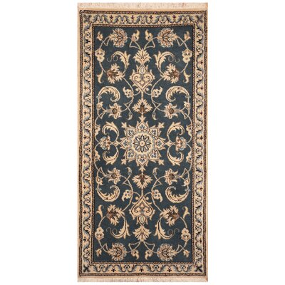 One-of-a-Kind Ertha Hand-Knotted Blue Area Rug