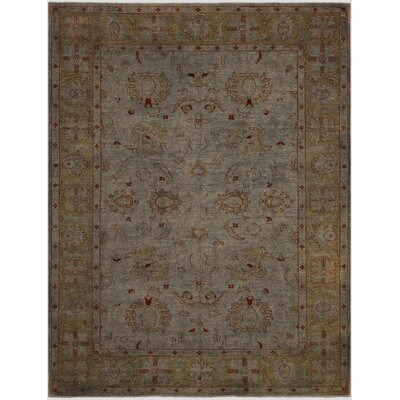 One-of-a-Kind Mcewen Hand-Knotted Wool Gray/Green Area Rug