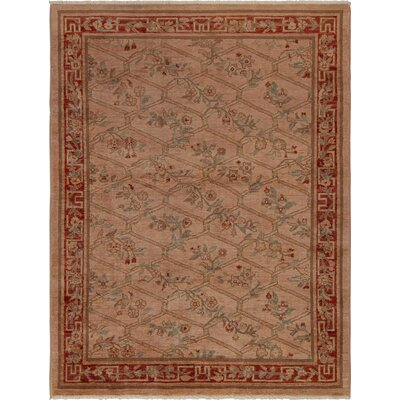 One-of-a-Kind Mcewen Hand-Knotted Wool Rose/Red Area Rug