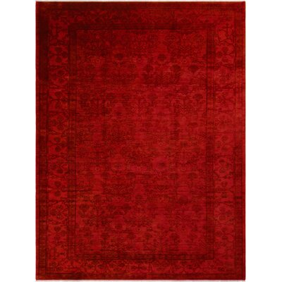 One-of-a-Kind Mcewen Hand-Knotted Wool Red/Rose Area Rug