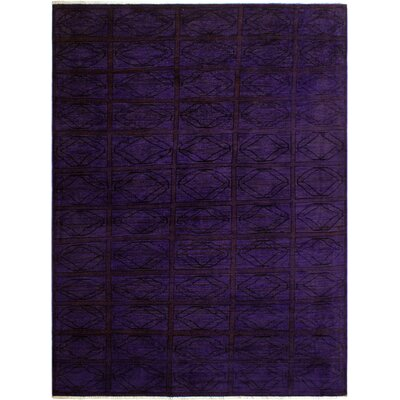 One-of-a-Kind Mcewen Hand-Knotted Wool Purple/Red Area Rug