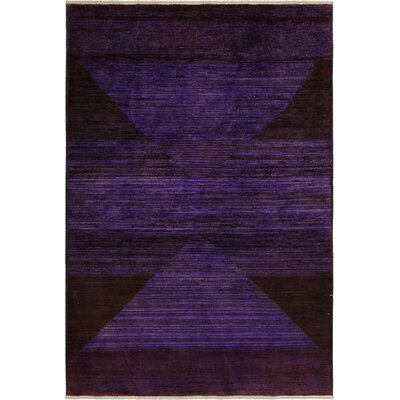 One-of-a-Kind Mcewen Hand-Knotted Wool Purple/Black Area Rug