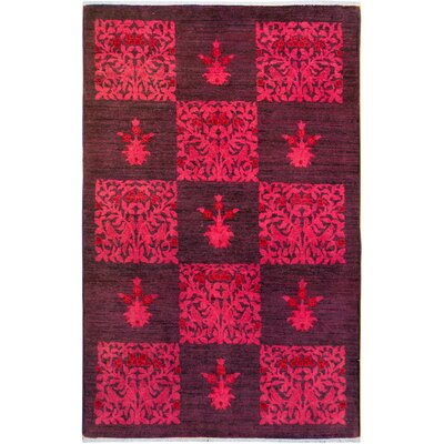 One-of-a-Kind Mcewen Hand-Knotted Wool Purple/Pink Area Rug