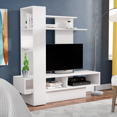 Maloy 55.1 Entertainment Center Color: White