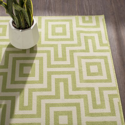 Rahul Hand-Woven Green Indoor/Outdoor Area Rug Rug Size: 710 x 1010