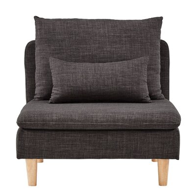 Dubbo Modular Guest Chair Seat Color: Dark Gray