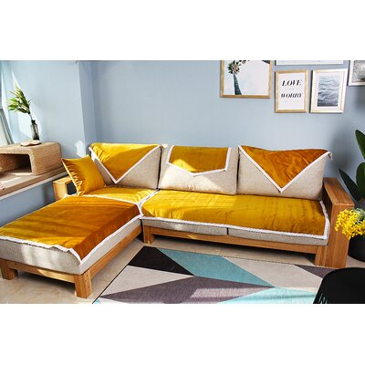 Luster Daybed Slipcover Upholstery: Yellow, Size: 28 W x 34 D