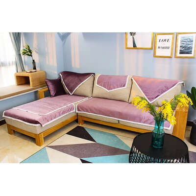 Luster Daybed Slipcover Upholstery: Purple, Size: 71 W x 34 D